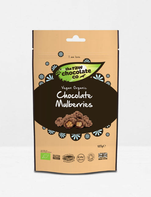 The raw chocolate / Mures blanches Bio enrobées de cacao cru 125g