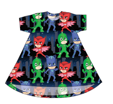 Load image into Gallery viewer, PJ Masks Basic T-Shirt Dress