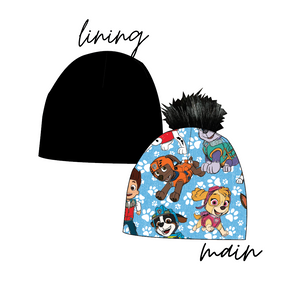 Pups Party Slouchy Beanie (Reversible!)