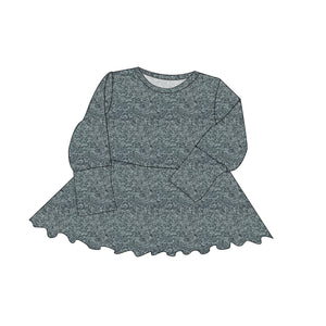 Simply Solids Cozy Collection Peplum Grow With Me Hoodie (or Crewneck)