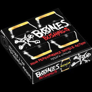 BONES WHEELS BUSHINGS MEDIUM BLACK