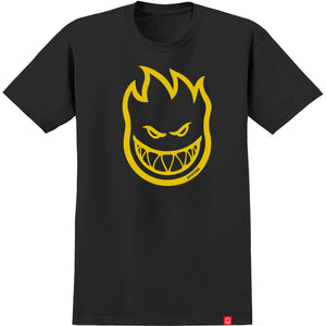 SPITFIRE TEE YOUTH BIGHEAD BLACK/YELLOW