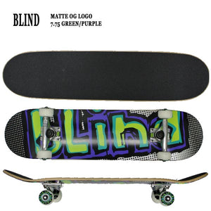 BLIND COMPLETE MATTE OG LOGO GREEN PURPLE 7.75