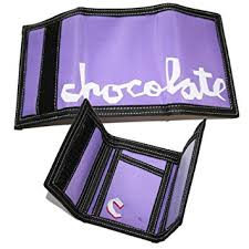 CHOCOLATE WALLET BIG CHUNK VELCRO PURPLE