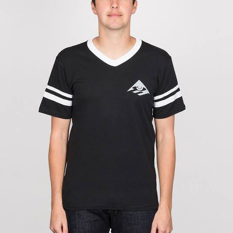 EMERICA TSHIRT X TOY STRIPE V BLACK