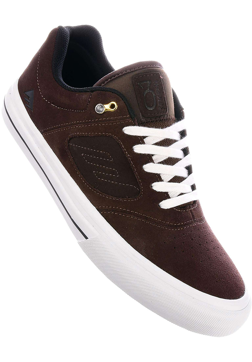 EMERICA SHOE REYNOLDS 3 G6 VULC BROWN/WHITE