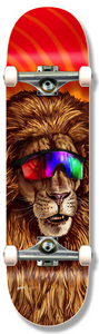 HOLIDAY SKATEBOARD COMPLETE PARTY ANIMAL LION 7.75
