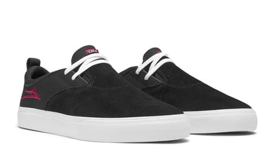 LAKAI SHOES RILEY 2 BLACK RED SUEDE