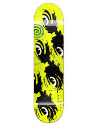 MADNESS DECK SIDE EYE NEON YELLOW R7 8.5