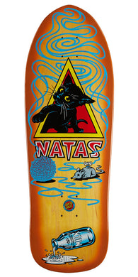 SANTA CRUZ DECK NATAS KITTEN REISSUE YELLOW STAIN 9.89 X 29.82