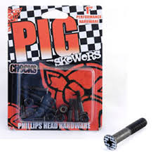 PIG WHEELS BOLTS 'CHECK SKEWERS' 1''