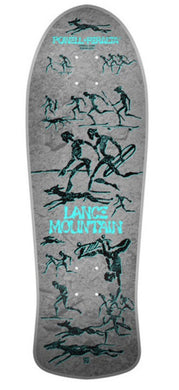 POWELL PERALTA BONES BRIGADE DECK 12TH SERIES LANCE MOUNTAIN SILVER
