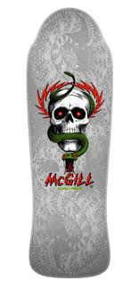 POWELL PERALTA BONES BRIGADE DECK 12TH SERIES MIKE MCGILL SILVER
