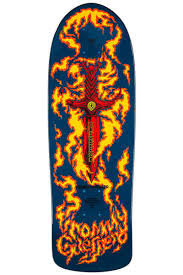 POWELL PERALTA REISSUE GUERRERO FLAMING DAGGER 9.6 BLUE 10TH SERIES