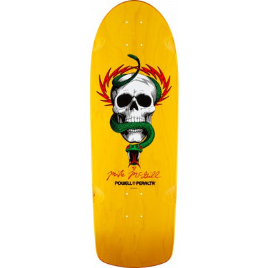 POWELL PERALTA DECK REISSUE MIKE MC GILL SKULL & SNAKE YELLOW 10