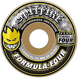 SPITFIRE WHEELS FORMULA FOUR 99D CONICAL PRINT YELLOW 54MM