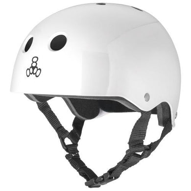 TRIPLE EIGHT HELMET BRAINSAVER SS WHITE GLOSS