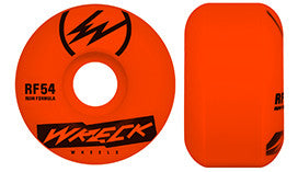 WRECK WHEELS RF SQUARE CUT NEON ORANGE 54mm