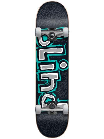 Blind OG Athletic Skin Teal 7.5 First Push Premium Complete Skateboard
