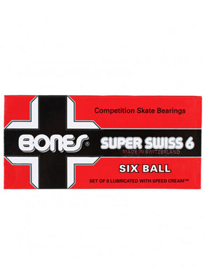 BONES BEARINGS SUPER SWISS 6 BALL 8 PACK