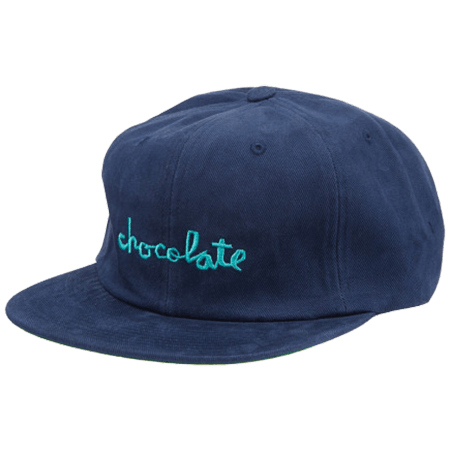 CHOCOLATE STRAP BACK CHUNK 6 PANEL BLUE