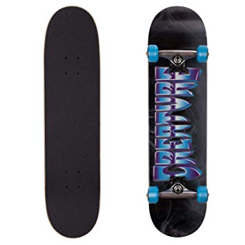 CREATURE SKATEBOARDS COMPLETE BLACK-BLUE CHROME 7.75
