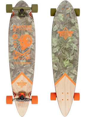 DUSTERS LONGBOARD COMPLETE  CALIFORNIA MOTO RANGER GREEN/ORANGE