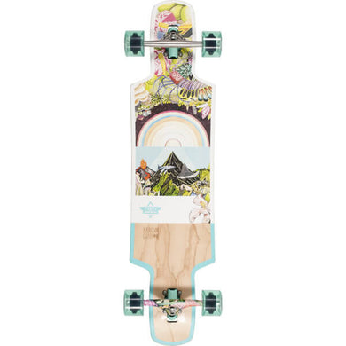 DUSTERS LONGBOARD COMPLETE BIOME WHITE/NATURAL/TEAL