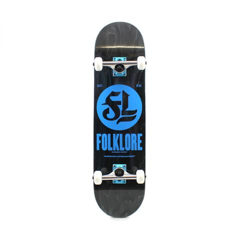 FOLKLORE SKATEBOARDS COMPLETE WARM PRESS BLUE 8.0
