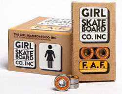GIRL SKATEBOARDS F.A.F BEARINGS