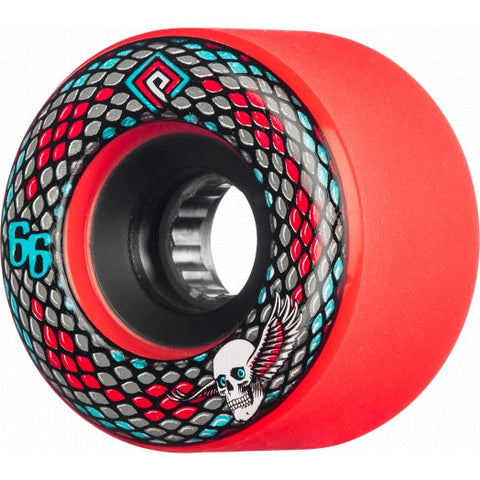 POWELL PERALTA WHEELS SSF SNAKES RED 66MM/75A
