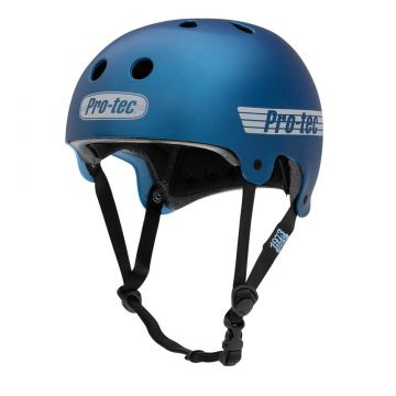 PROTEC HELMET CERTIFIED OLD SCHOOL MATTE METALLIC BLUE