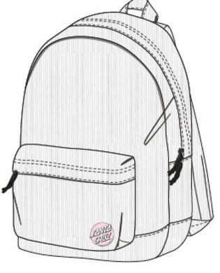SANTA CRUZ MISSING DOT CORDUROY BACKPACK