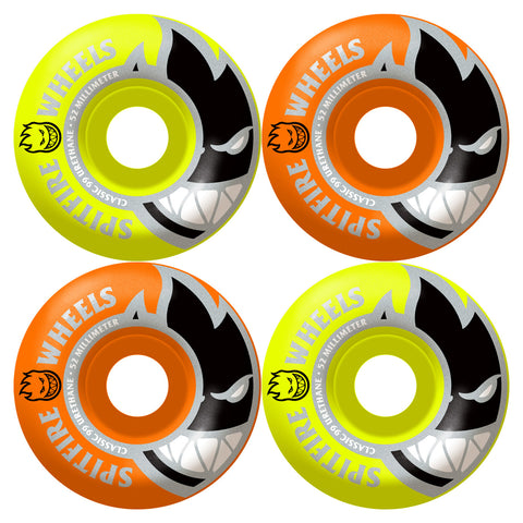 SPITFIRE WHEELS BIGHEAD MASHUP NEON ORANGE/NEON YELLOW