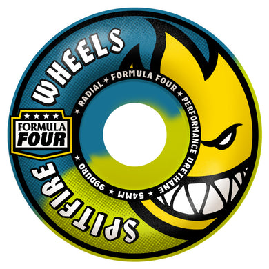 SPITFIRE WHEELS FORMULA FOUR RADIAL 99D SWIRL BLUE/YELLOW