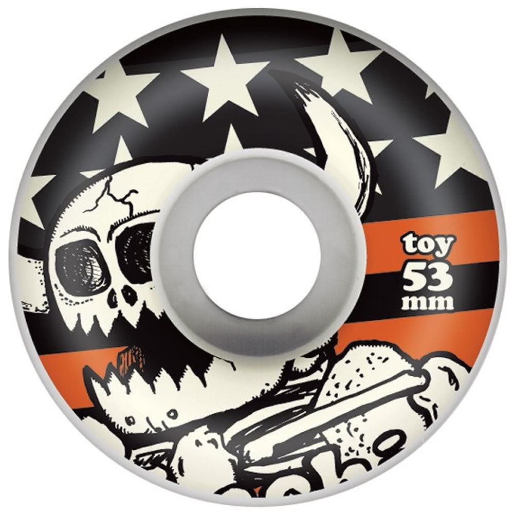 TOY MACHINE SKATEBOARD WHEEL DEAD MONSTER STARS AND STRIPES 53MM