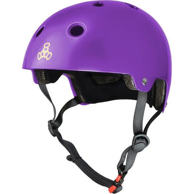TRIPLE EIGHT HELMET CERTIFIED SS PURPLE GLOSS