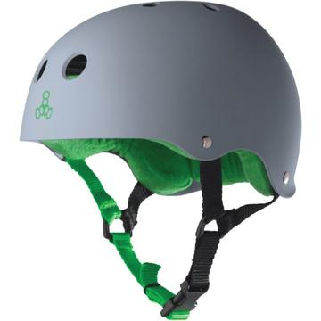 TRIPLE EIGHT HELMET SS CARBON RUBBER GREY/GREEN