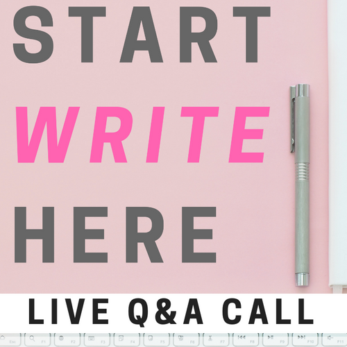 Start Write Here: Authorship 101 (90-Minute Live Group Class)