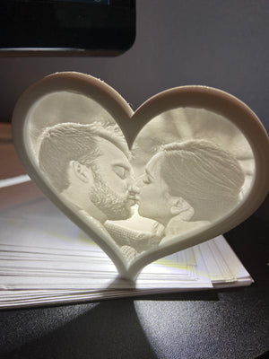 LumenGraph Heart - Custom Photo Nightlight,  - custom gift, LumenGraph - LumenGraph