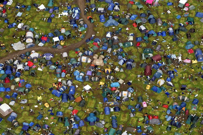 Glastonbury Music Festival Trash