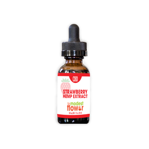 300 mg CBD Strawberry Hemp Extract by The Modest Flower 30 ml - Festival Flow Kit