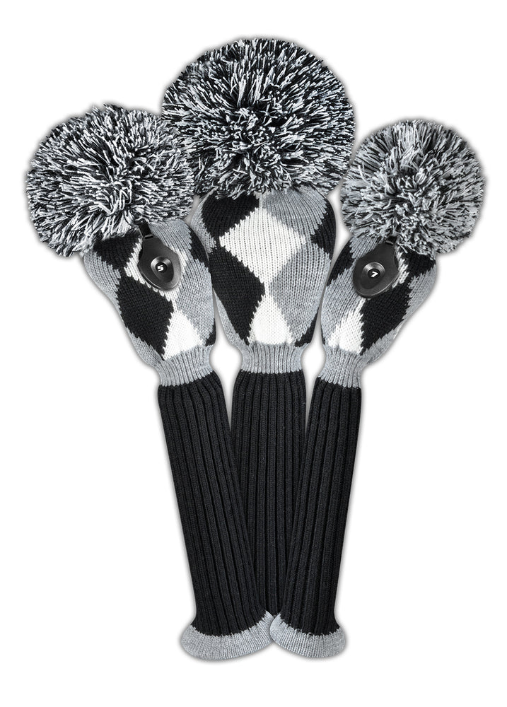 Diamond Headcover Set - Gray, Black, White - OUT OF STOCK
