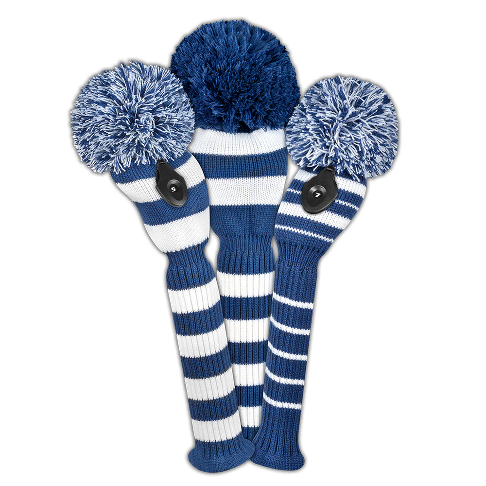 Navy & White Stripe Headcover Set - OUT OF STOCK