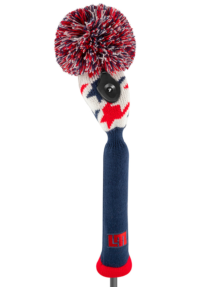Loudmouth Red Blue Tooth Hybrid Headcover - New!