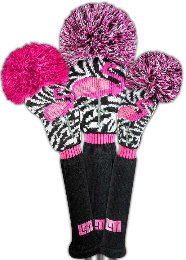 Loudmouth Savage Flamingos Head Cover Set