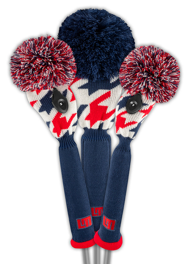Loudmouth Red Blue Tooth Driver Headcover - New!