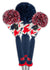 Loudmouth Red Blue Tooth Headcover Set - New!