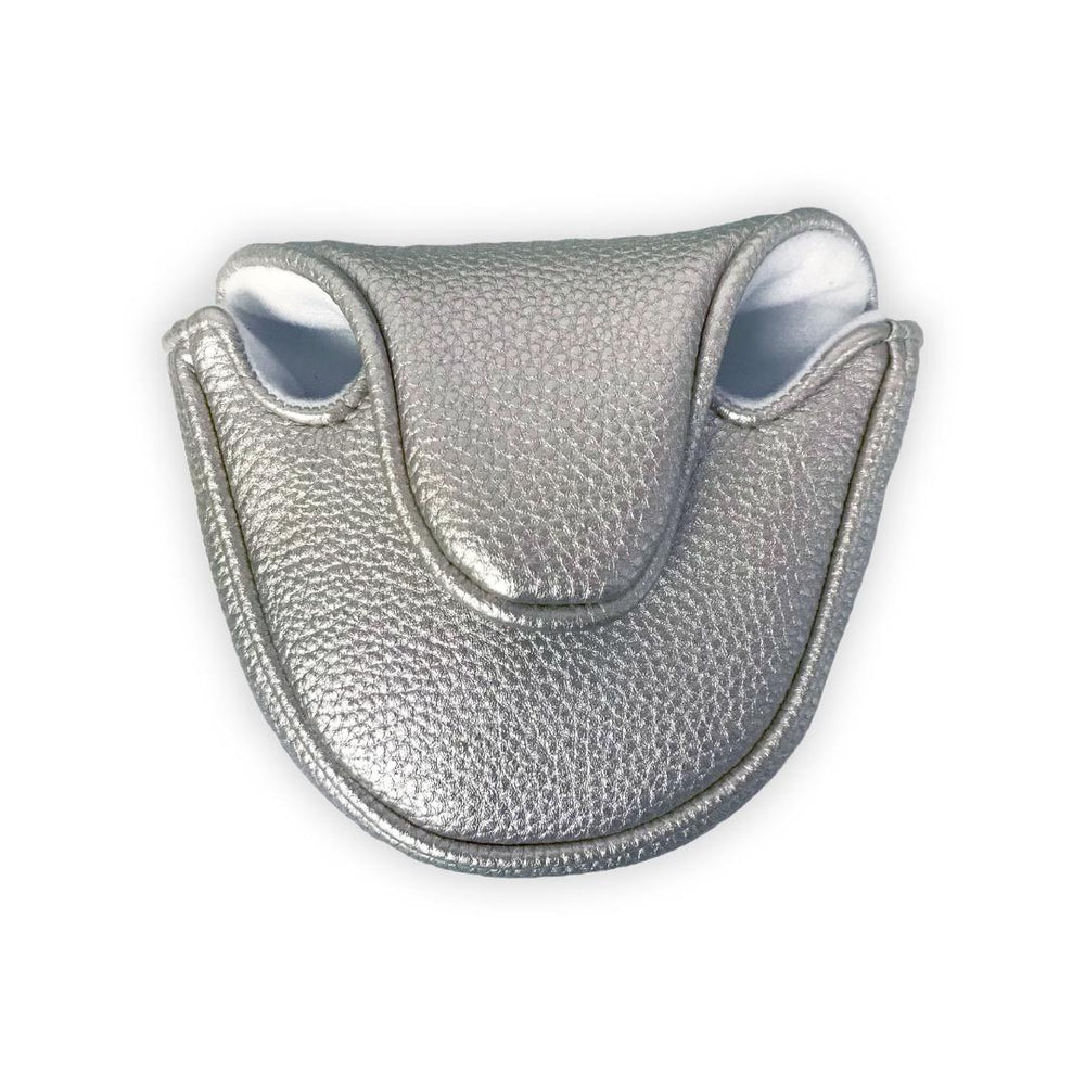 Metallic Mallet Putter Cover - Silver