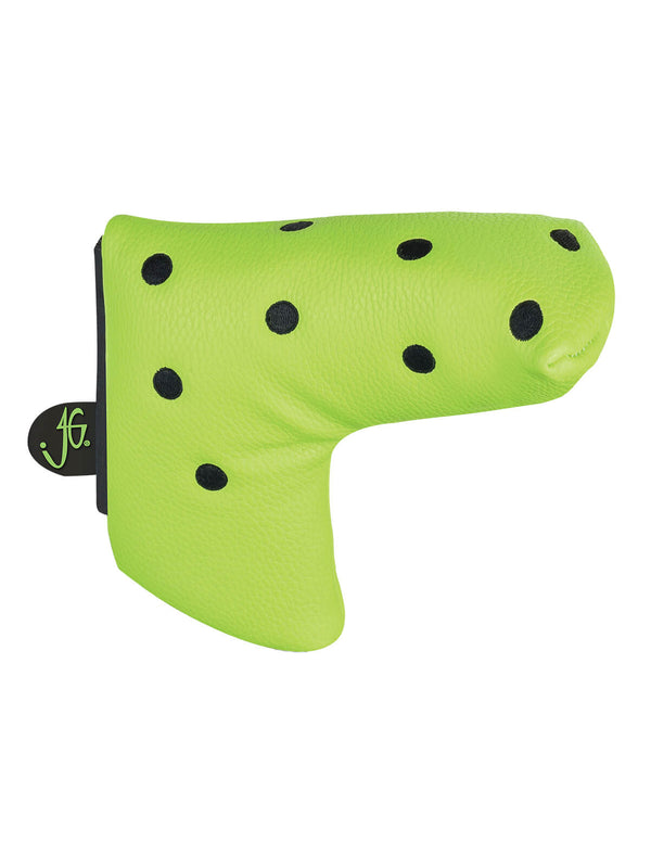 Dot Blade Putter Cover - Lime & Black